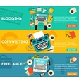 Blogging Freelance And Copywriting Concept vector image