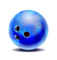 blue glossy multi-colored bowling ball isolated on vector image vector image