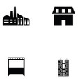 building icon set vector image vector image