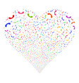 call fireworks heart vector image vector image