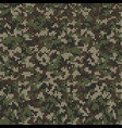 camouflage style knitted pattern in green colors vector image vector image