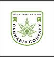 cannabis logo cbd logo design vector image vector image