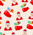 christmas seamless texture with santa claus vector image vector image
