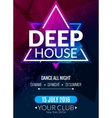 Club electronic deep techno music poster Musical