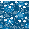 cute clouds and rain vector image vector image