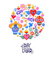 day dead mexican sugar skull icon card vector image vector image