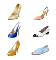 Fashionable womens shoes are on white background vector image