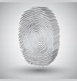 fingerprint in 3d vector image