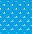 fish pattern seamless blue vector image vector image