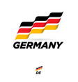 flag germany dynamic culture celebration icon vector image