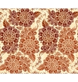 Floral seamless pattern in Indian mehndi style vector image vector image