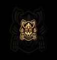 fox samurai mascot logo vector image vector image