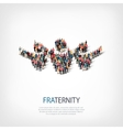fraternity people sign 3d vector image