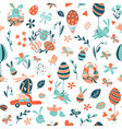 funny happy easter seamless pattern background vector image vector image