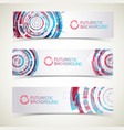 futuristic design banners set vector image vector image