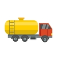 Gas oil truck vector image vector image