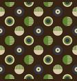 geometric wheels symmetry seamless pattern vector image vector image