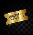 golden tickets and coupons templates vector image vector image