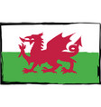 grunge wales flag or banner vector image vector image