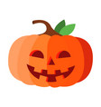 halloween pumpkin happy face isolated vector image