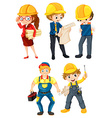 Hardworking people vector image