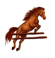 Horse jumping symbol for equine sport horserace vector image vector image
