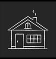 house chalk white icon on black background vector image