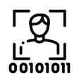human binary code icon outline vector image vector image