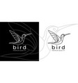hummingbird logo icon vector image