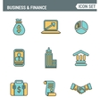 icons line set premium quality business vector image vector image