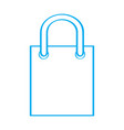 isolated shopping bag outline vector image