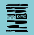 kitchen knives collection vector image vector image