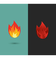 logo Fire flame icon set in format vector image vector image