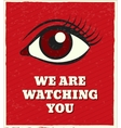 Looking eye poster vector image vector image