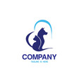 loving pet logo vector image vector image