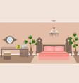 luxury asian bedroom interior vector image vector image