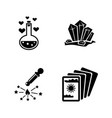 magic spell wizard simple related icons vector image vector image