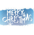 merry christmas lettering with blue sky vector image vector image