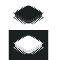 microchip processor logotype template monochrome vector image vector image