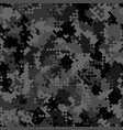 military camouflage seamless pattern urban vector image vector image