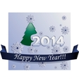 New Year Card made in Plane Style vector image vector image