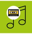 note music cassette tape vector image vector image