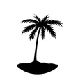 One palm tree island vector image vector image