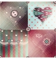 Patchwork pattern with shadow vector image vector image