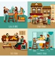 People Eating Out vector image vector image