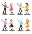 professional dancer couple dancing vector image vector image