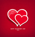Red heart paper valentine vector image