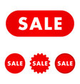 sale red buttons vector image vector image