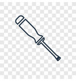 screwdriver concept linear icon isolated on vector image