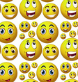 Seamless happy face vector image vector image